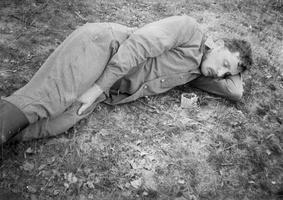 Kęstas Zamkauskas miega