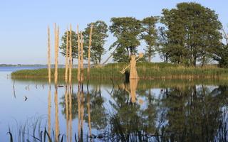 Juodkrantė · Gintaro įlanka, nendrinės skulptūros 3267