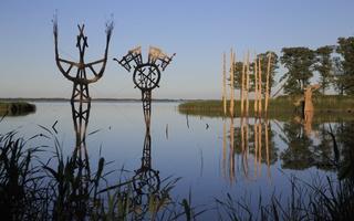 Juodkrantė · Gintaro įlanka, nendrinės skulptūros 3303