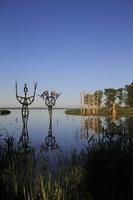 Juodkrantė · Gintaro įlanka, nendrinės skulptūros 3306