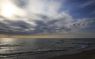Juodkrantė · jūra, debesys, vakaras 3521