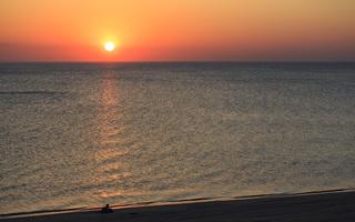 Juodkrantė · jūra, saulėlydis 0700