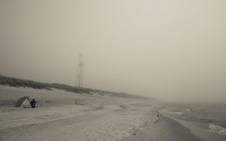 Juodkrantė · jūra, rūkas 1247
