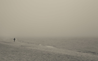 Juodkrantė · jūra, rūkas 1266