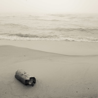 Juodkrantė · jūra, rūkas 1308