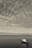 Juodkrantė · marios, kateris, debesys 1429