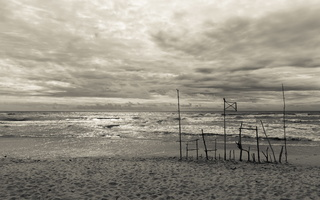 Juodkrantė · jūra, debesys 1447
