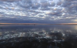 Juodkrantė · marios, debesys, saulėlydis 1514