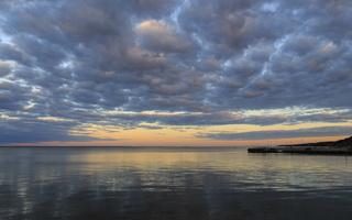 Juodkrantė · marios, debesys, saulėlydis 1516