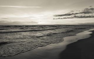 Juodkrantė · jūra, saulėlydis, debesys 1634