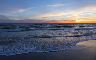 Juodkrantė · jūra, saulėlydis, debesys 1638