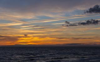 Juodkrantė · jūra, saulėlydis, debesys 1641