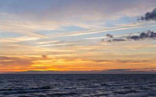 Juodkrantė · jūra, saulėlydis, debesys 1642