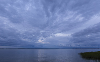 Juodkrantė · marios, debesys 1693
