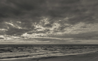 Juodkrantė · jūra, debesys 1742