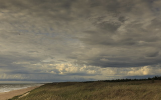 Juodkrantė · jūra, debesys 1743