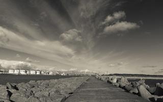 Kopgalis · pietinis molas, jūros vartai, debesys 1771