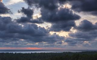 Juodkrantė · saulėlydis, debesys 1780