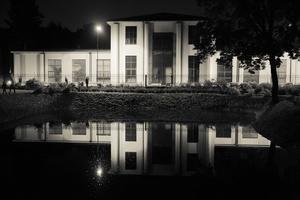 Bernardinų sodo tvenkinys naktį 3667