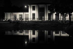 Bernardinų sodo tvenkinys naktį 3668