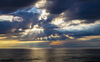 Juodkrantė · jūra, debesys, saulėlydis 4727