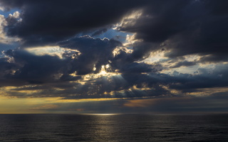 Juodkrantė · jūra, debesys, saulėlydis 4728
