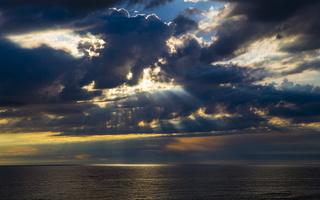 Juodkrantė · jūra, debesys, saulėlydis 4729