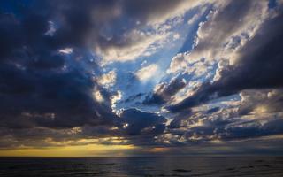 Juodkrantė · jūra, debesys, saulėlydis 4730