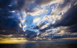 Juodkrantė · jūra, debesys, saulėlydis 4731