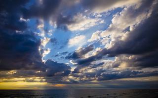Juodkrantė · jūra, debesys, saulėlydis 4732