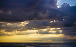 Juodkrantė · jūra, debesys, saulėlydis 4733