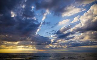 Juodkrantė · jūra, debesys, saulėlydis 4734