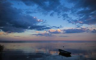 Juodkrantė · marios, debesys, saulėlydis 4735