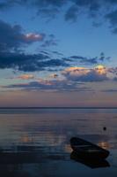 Juodkrantė · marios, debesys, saulėlydis, valtis 4736