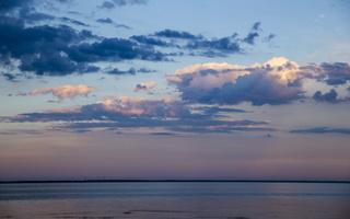 Juodkrantė · marios, debesys, saulėlydis 4737
