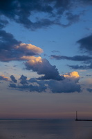 Juodkrantė · marios, debesys, saulėlydis 4738