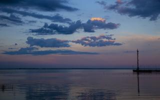 Juodkrantė · marios, debesys, saulėlydis 4739