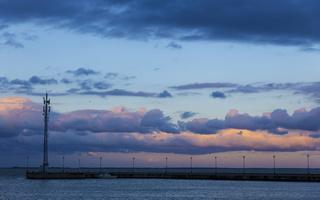 Juodkrantė · marios, debesys, saulėlydis 4742
