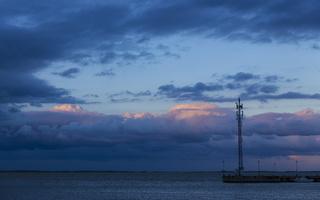 Juodkrantė · marios, debesys, saulėlydis 4743