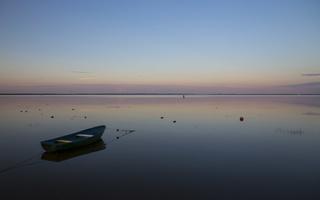 Juodkrantė · marios, saulėlydis, valtis 5067