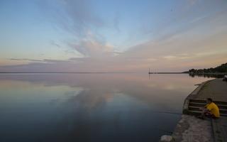 Juodkrantė · marios, debesys, saulėlydis 5068