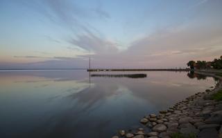 Juodkrantė · marios, debesys, saulėlydis 5069