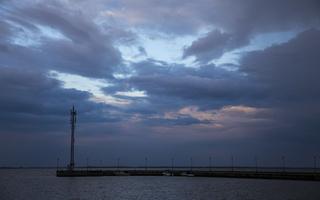 Juodkrantė · marios, debesys, saulėlydis 5078