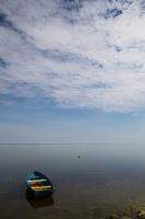 Juodkrantė · valtis, marios, debesys