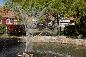 Nida · Jūratės skulptūra, fontanas 7149