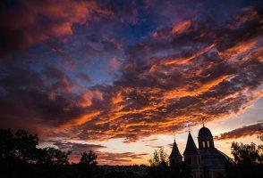 Vilniaus Trinitorių bažnyčia · saulėlydis 8580
