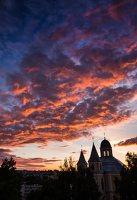 Vilniaus Trinitorių bažnyčia · saulėlydis 8585