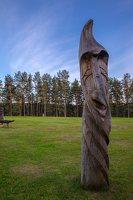 Sirvėtos regioninis parkas · medinė skulptūra Bėlio ežero aikštelėje 9314
