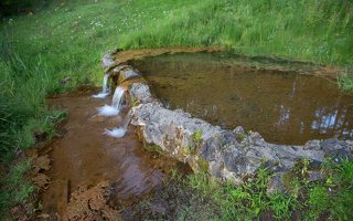 Sirvėtos parkas · šaltinis Lino verdenė, Sėtikio ežeras