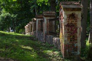 Trakų Vokė · dvaro parko tvora 9760